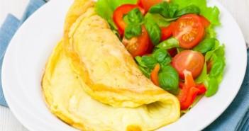 Omeleta ze tří vajec. Chutně a zdravě!